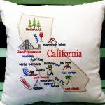 California Map Pillow California Gifts California Souvenir | Etsy   California Map Pillow