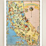 California Map Print Picture Map Illustrated Map Map | Etsy   Illustrated Map Of California