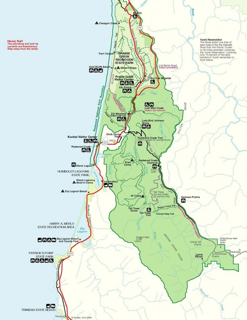California Map Redwood National Park – Map Of Usa District - California Redwood Parks Map