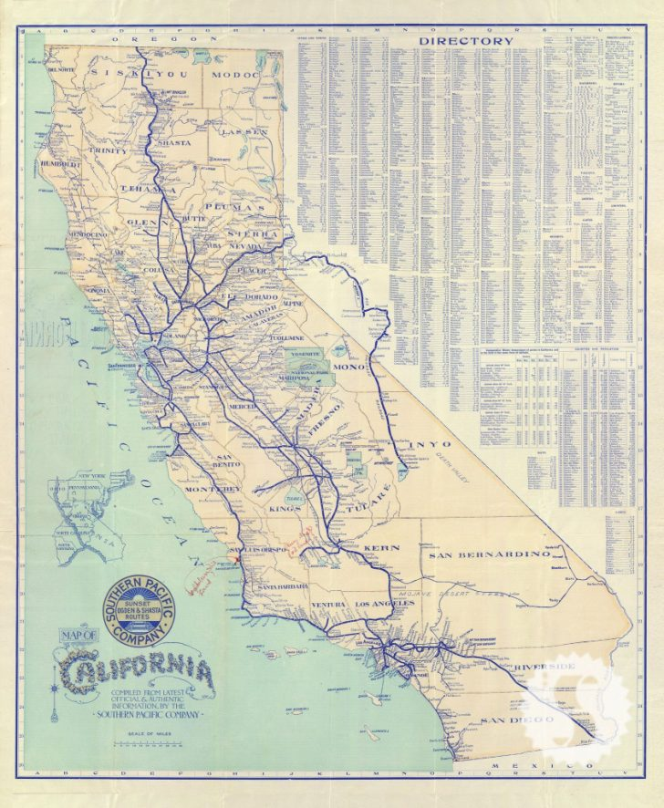 Antique Map Of California