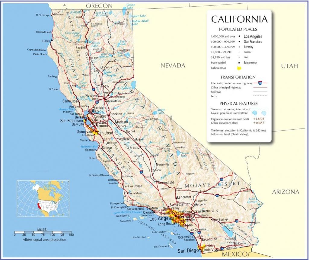 California Map,california State Map,california Road Map, Map Of - California Road Atlas Map