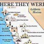 California Mission Map Printable | D1Softball   California Missions Map Printable