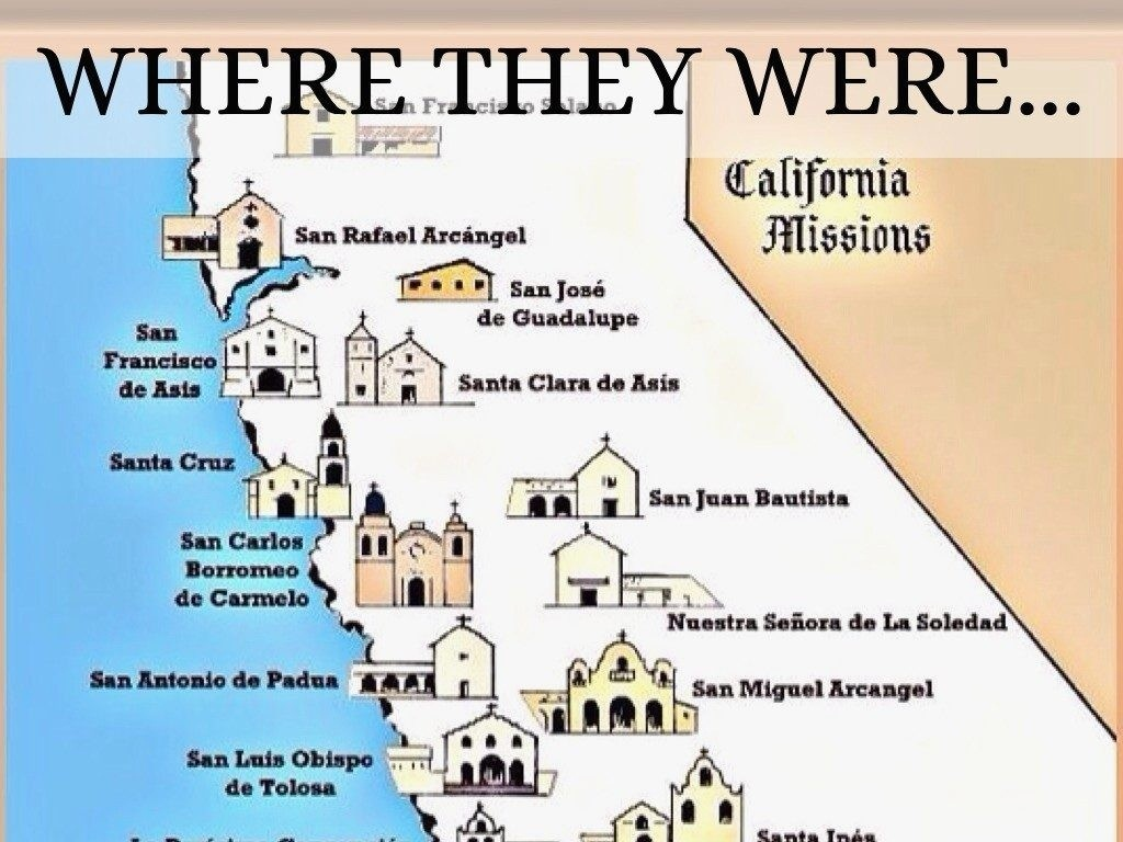 California Mission Map Printable | D1Softball - California Missions Map Printable