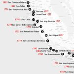 California Missions Map: Where To Find Them   California Missions Map For Kids