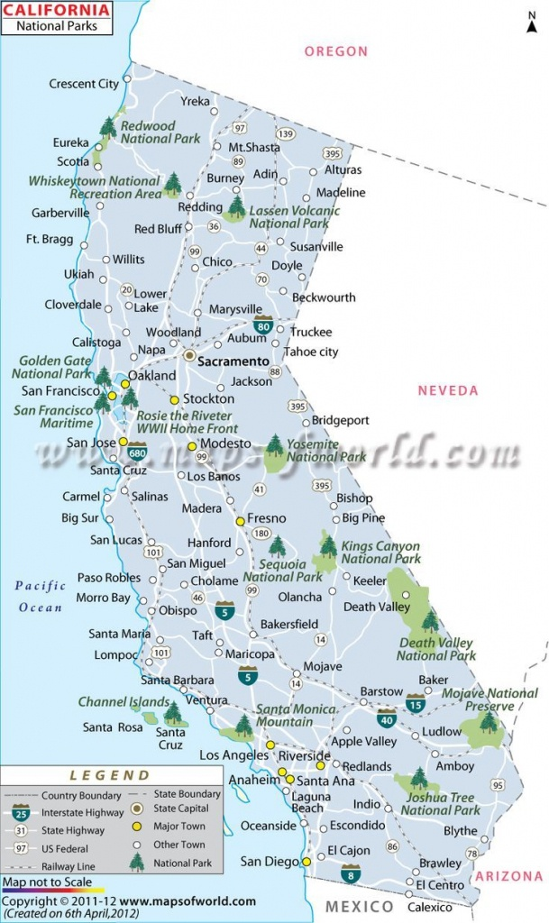 California National Parks Map   Travel In 2019   California National - California State Campgrounds Map