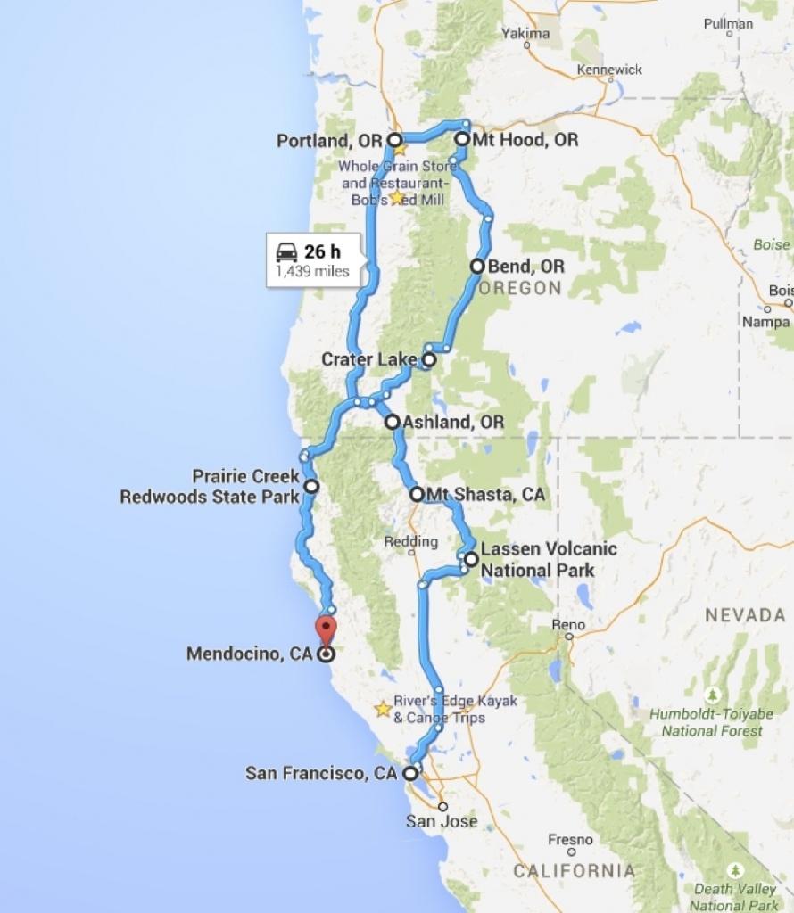 California Oregon Road Trip Pl California Road Map California Road - Road Map Oregon California