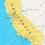 California Political Map Capital Sacramento Important Image - Sacramento California Map