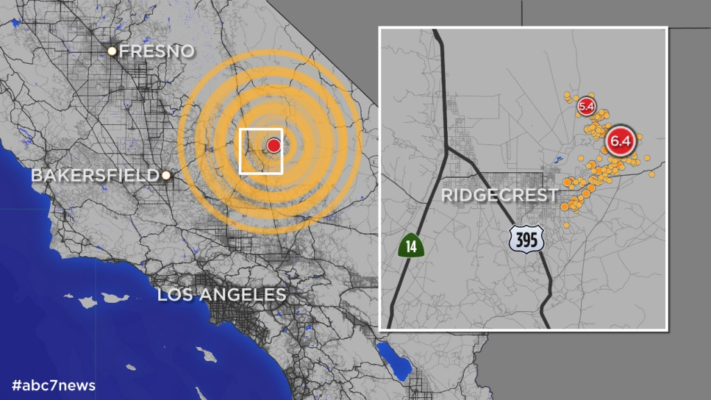 California Quake: Map Shows More Than 245 Aftershocks Since 6.4 - Show Map Of Southern California