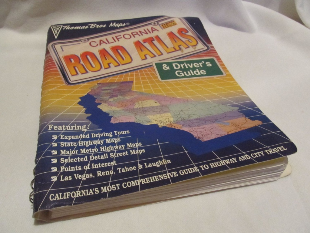 California, Road Atlas & Driver Guide, Thomas Bros Maps, Maps, Book - California Road Map Book