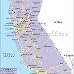 California Road Map, California Highway Map In California West Coast - Detailed Map Of California West Coast