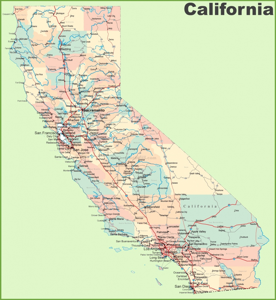 California Road Map - California Pictures Map