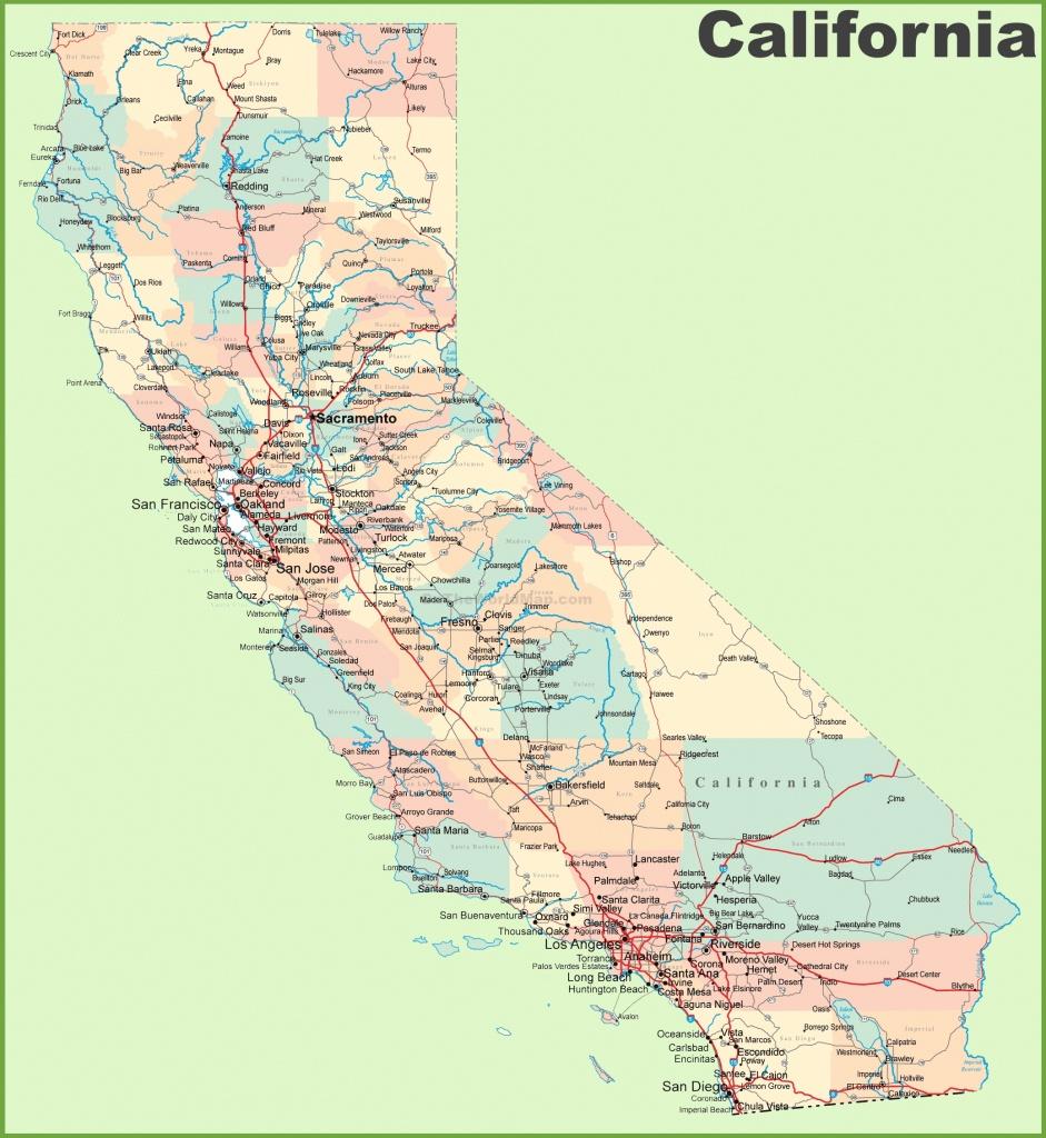 California Road Map - Printable Road Map Of California