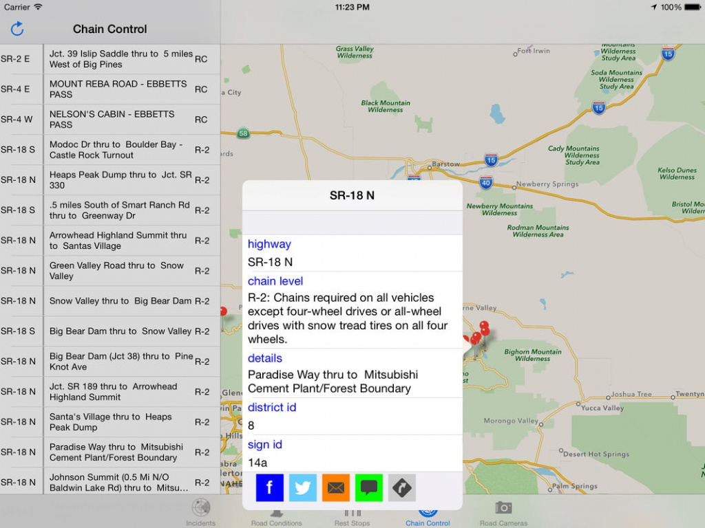 California Road Report - Online Game Hack And Cheat | Gehack - California Chain Control Map