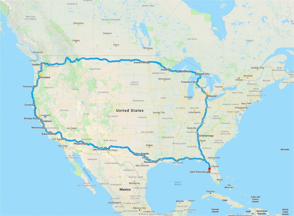 California Road Trip Trip Planner Map   Secretmuseum - Road Trip Map Printable