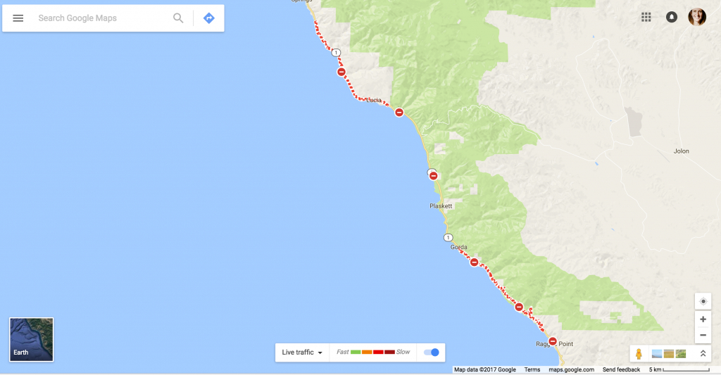 California Scheming - Google Maps + The Highway 1 Detour - Google Maps Santa Cruz California