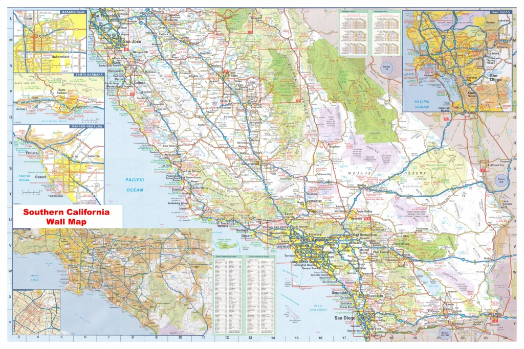 California Southern Wall Map Executive Commercial Edition - Laminated California Map
