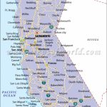 California State Map   Map Of California Showing Cities