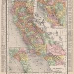 California State Map. Southern Ca & Bay Area Insets. Rand Mcnally   Old Maps Of Southern California