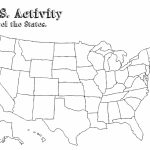 California State Outline Map Detailed United States Map Printable - Blank Us Map Printable Pdf