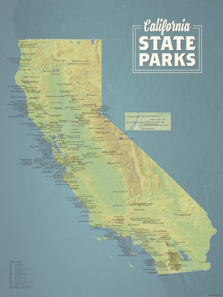 California State Parks Map 18X24 Poster - California State Parks Map