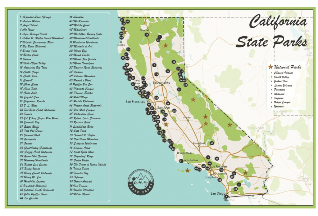 California State Parks Map And Travel Information | Download Free - California State And National Parks Map
