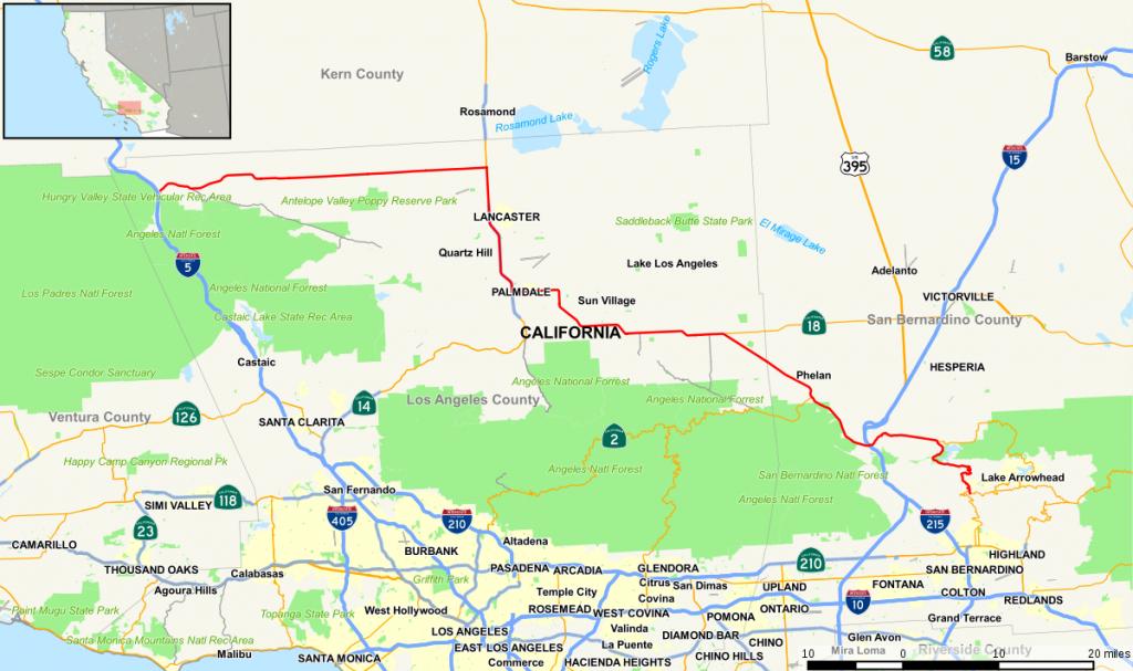 California State Route 138 - Wikipedia - Chino California Map
