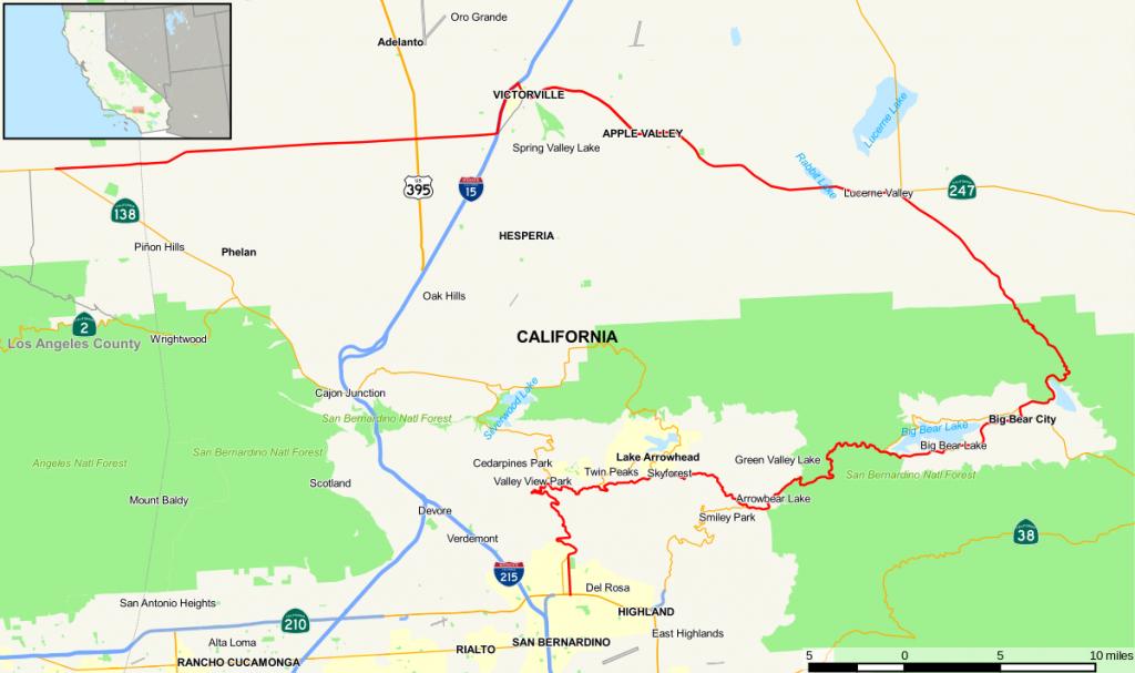 California State Route 18 - Wikipedia - California Chain Control Map
