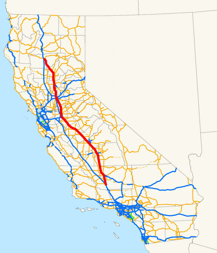 California State Route 99 - Wikipedia - California Interstate Highway Map