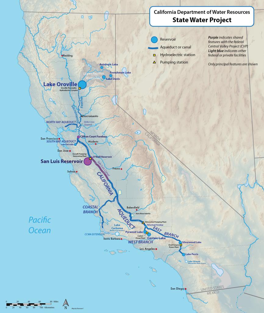 California State Water Project - Wikipedia - California Waterways Map