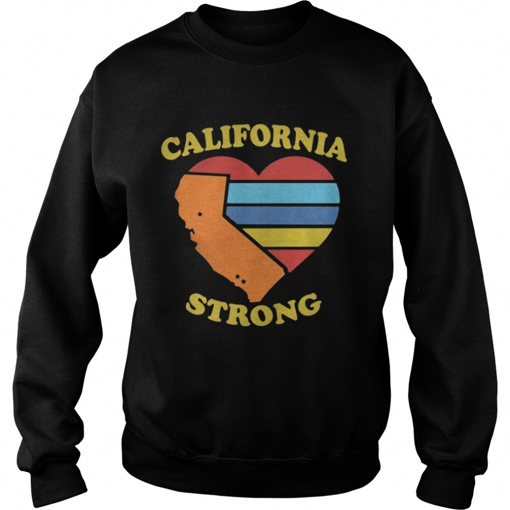 California Strong Heart Map Shirt - Online Shoping - California Map Shirt