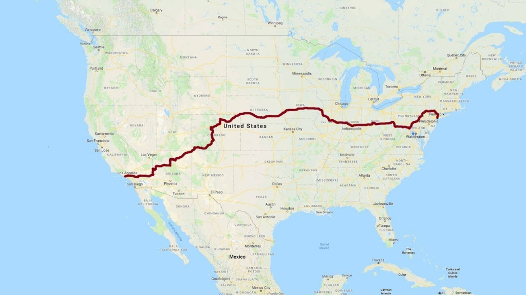 California To New York: A Complete Road Trip - Youtube - California To Florida Road Trip Map
