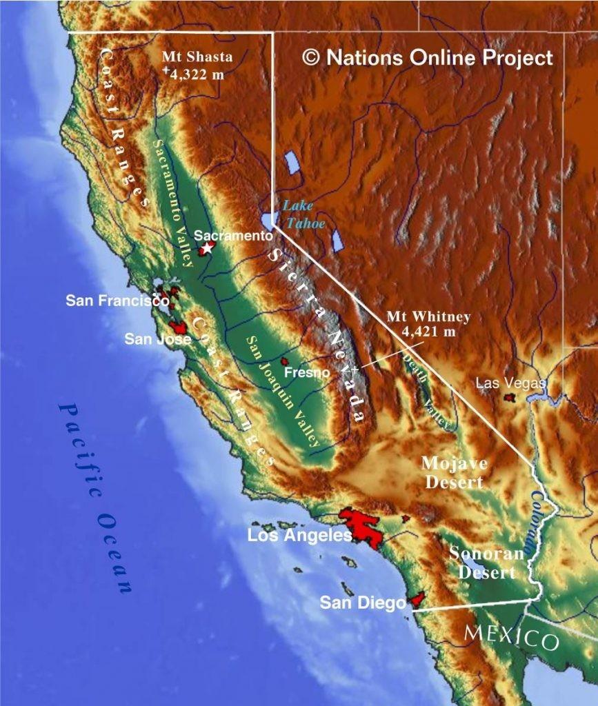 California Topographic Map | D1Softball - Baja California Topographic Maps