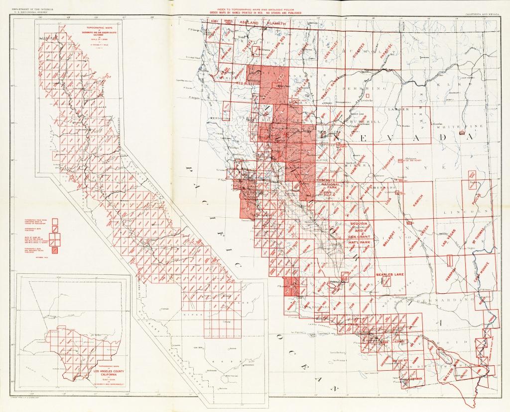 California Topographic Maps - Perry-Castañeda Map Collection - Ut - California Topographic Map Index