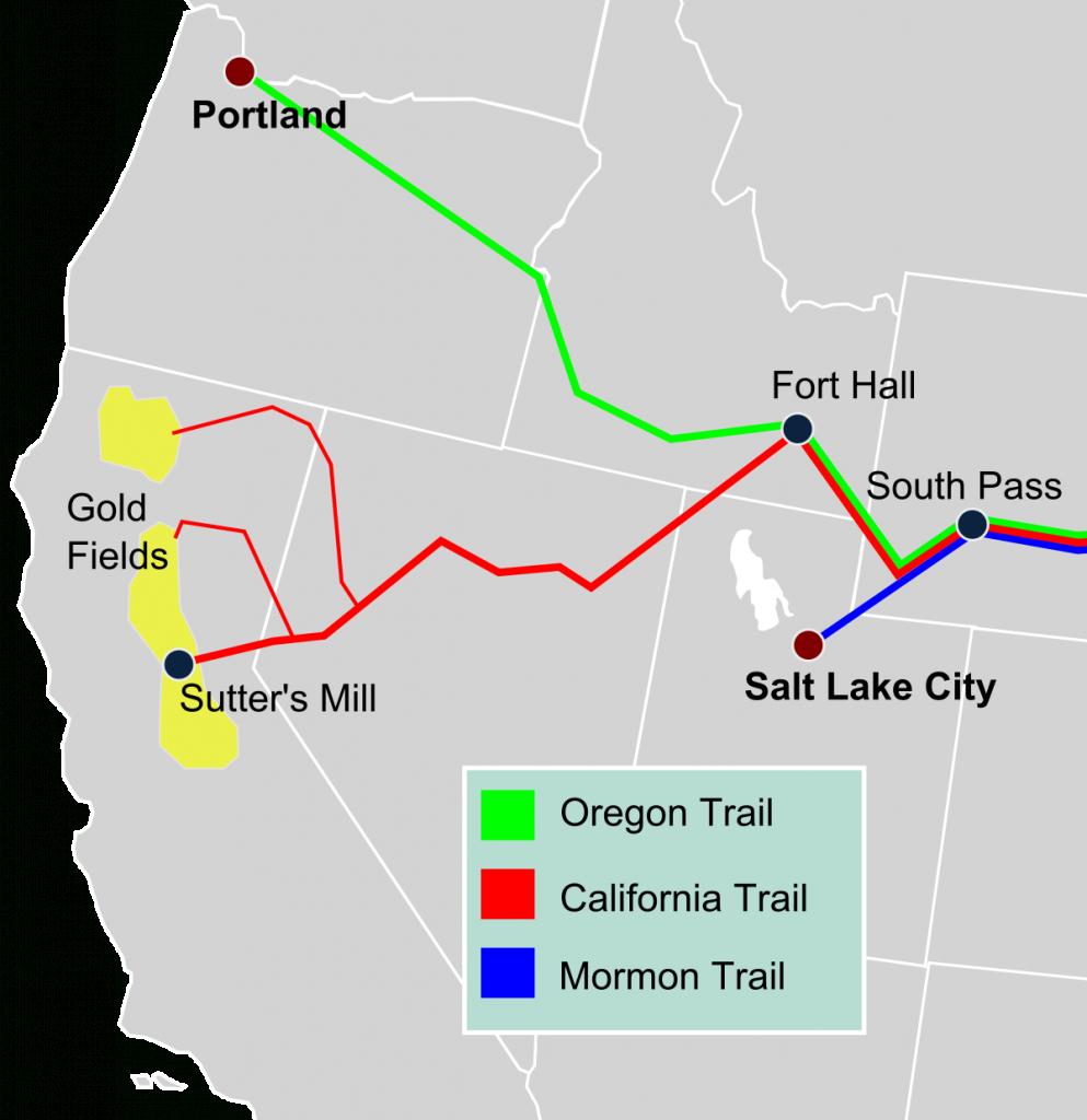 California Trail - Wikipedia - California Lead Free Zone Map