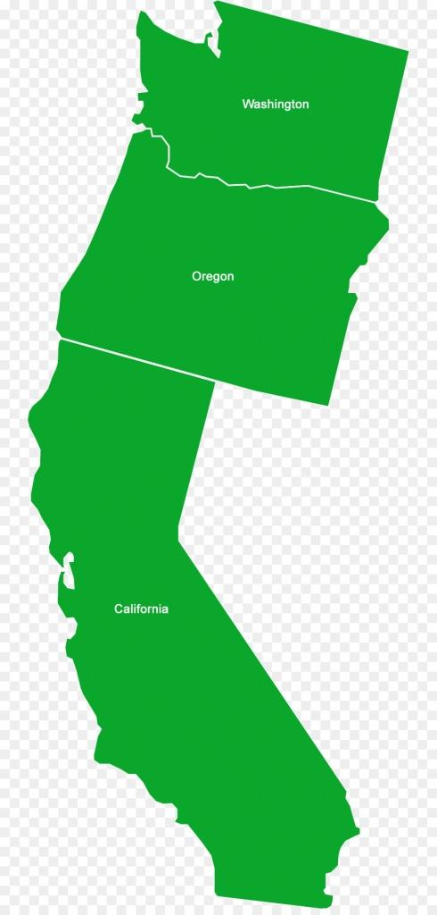 California Washington Oregon Idaho Jefferson - California Png - California Oregon Washington Map