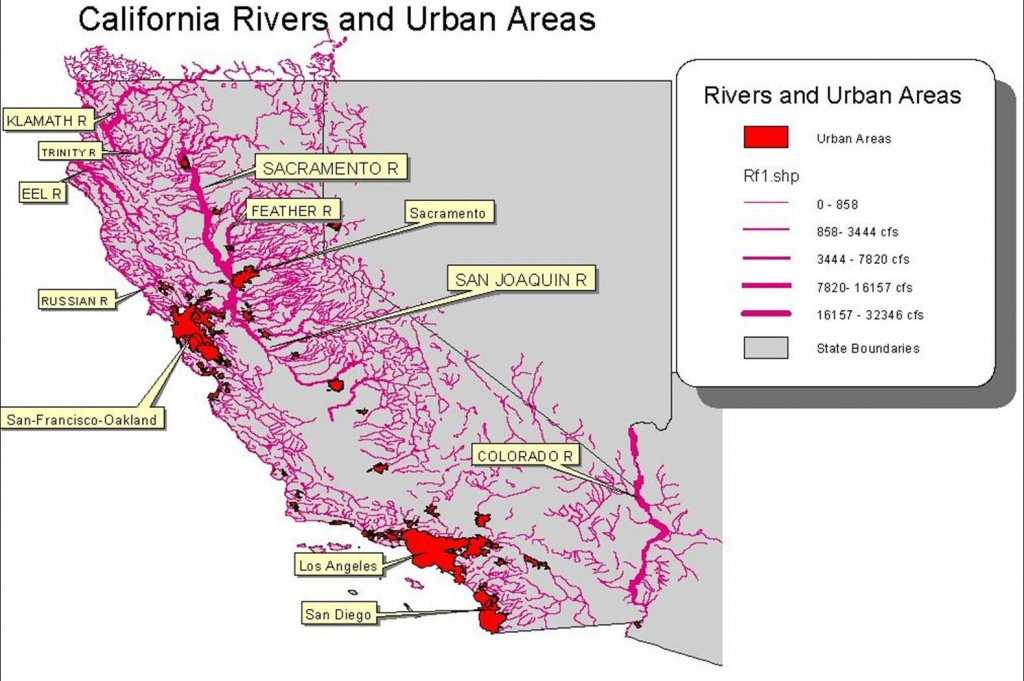 California Water Rights – In The Beginning   Romick In Oakley - California Water Rights Map