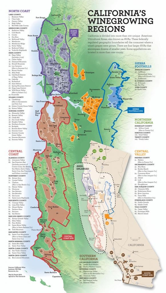 California Wine Map - California • Mappery - California Wine Tours Map