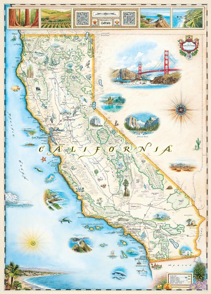 California (Xplorer Maps) Jigsaw Puzzle | Puzzlewarehouse - California Map Puzzle