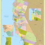 California Zip Code Map With Counties (48″ W X 57″ H   Buy Map Of California