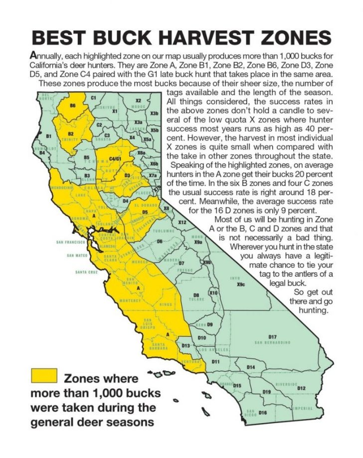 Deer Hunting Zones In California Maps