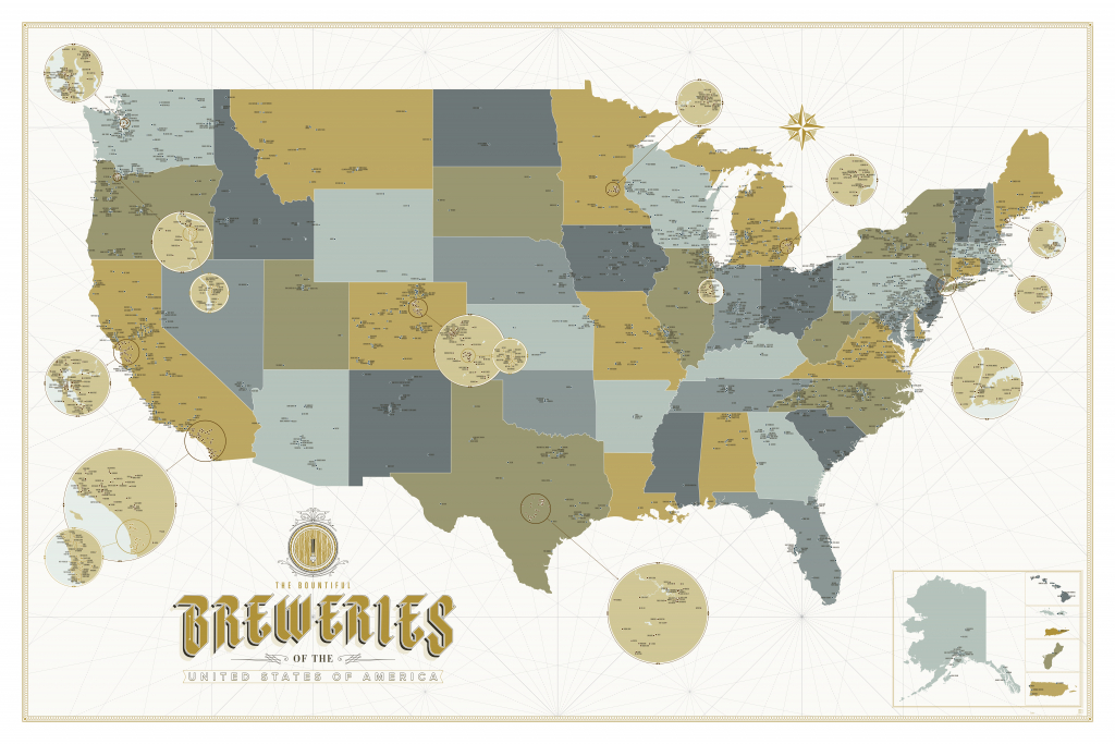 Calling All Beer Nerds This Incredibly Detailed Craft Brewery Map - California Beer Map