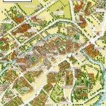 Cambridge University Campus Departments Colleges Birds Eye 3D Aerial   Cambridge Tourist Map Printable