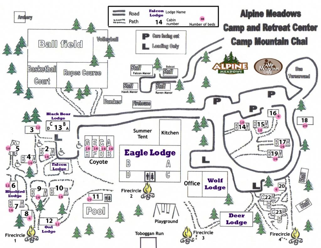 Camp Map | Retreat Center | Southern California | Alpine Meadows - Southern California Campgrounds Map