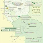 Campground Map Of Sequoia And Kings Canyon National Parks - Sequoias In California Map
