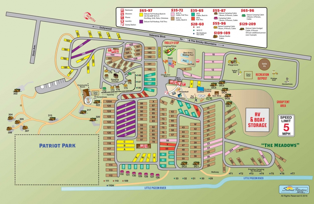 Campground Site Map | Rving | Rv Camping, Pigeon Forge, Rv Camping Tips - Printable Street Map Of Pigeon Forge Tn