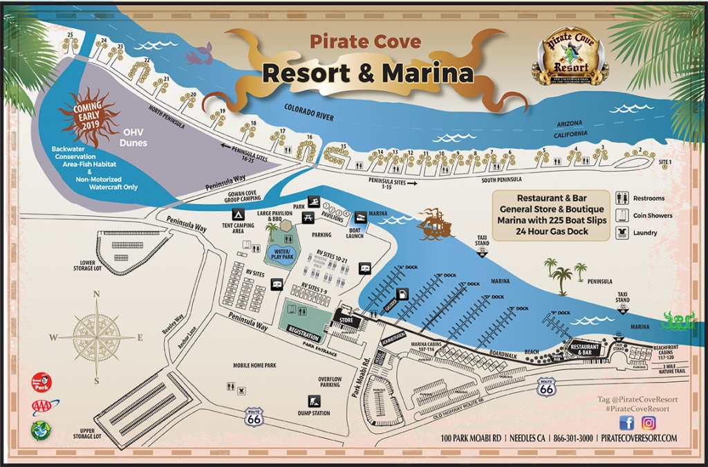 Camping - Pirate Cove Resort - California Rv Camping Map