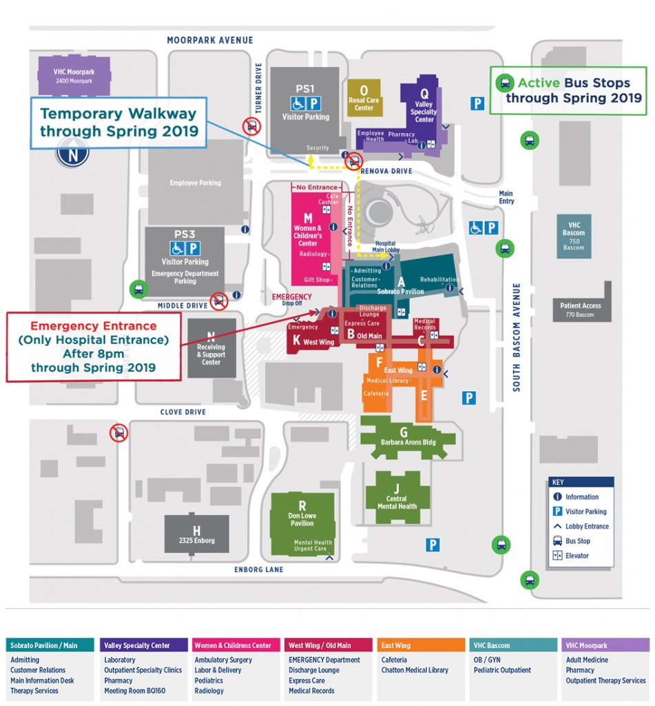 Campus Map Directory   Santa Clara Valley Medical Center - Kaiser Permanente Locations In California Map