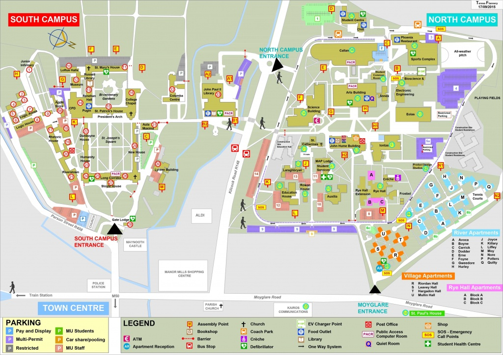 Campus Map For Maynooth University | Ireland | Campus Map, Map, College - Notre Dame Campus Map Printable