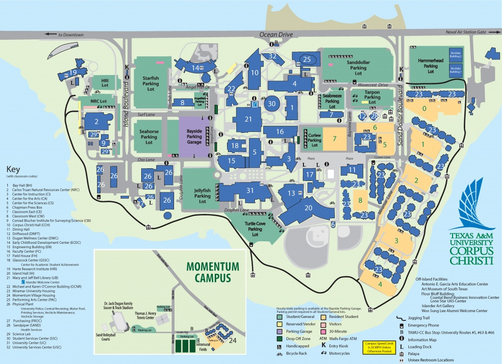Campus Map Texas A&m University-Corpus Christi - Texas A&m Map