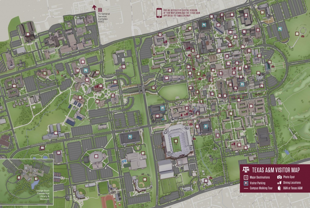 Campus Map | Texas A&m University Visitor Guide - Texas A&m Map